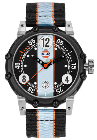 B.R.M. Watches BT6-46 Gulf Black Orange Hands Limited Edition