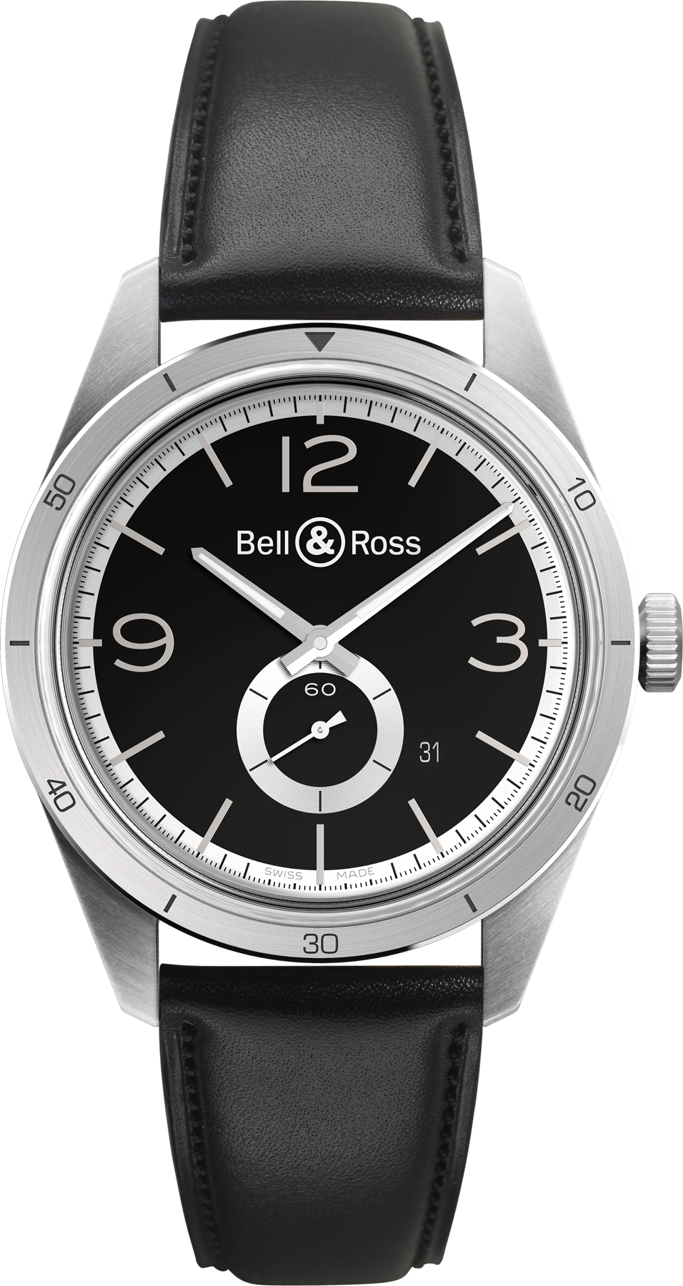 Bell & Ross Watch Vintage BR 123 GT Black Silver