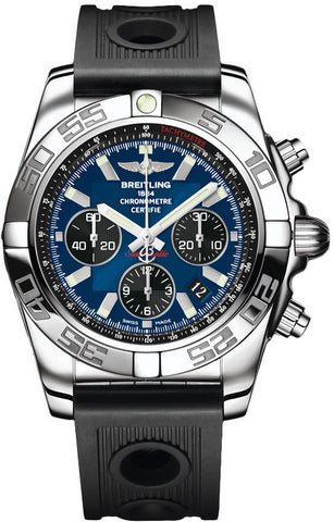 Breitling Watch Chronomat Blackeye Blue 44