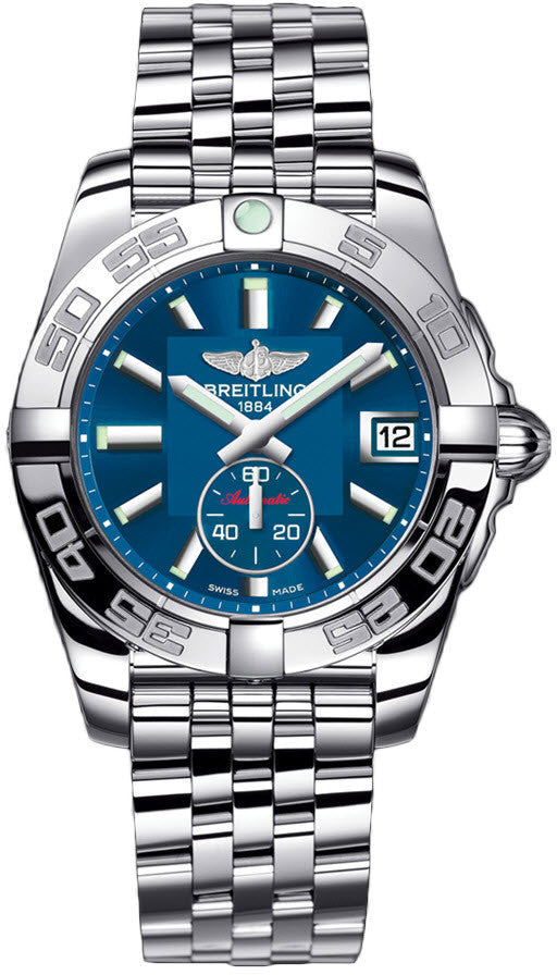 Breitling Watch Galactic 36 Automatic Gun Blue