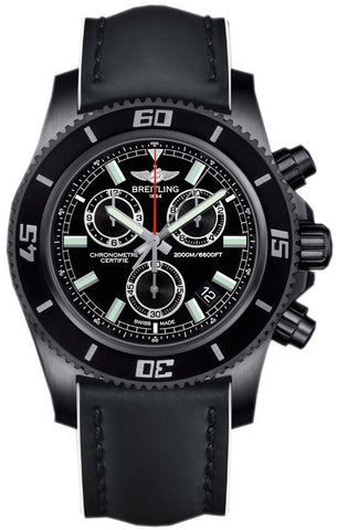 Breitling Watch Superocean Chronograph M2000 Blacksteel Limited Edition D