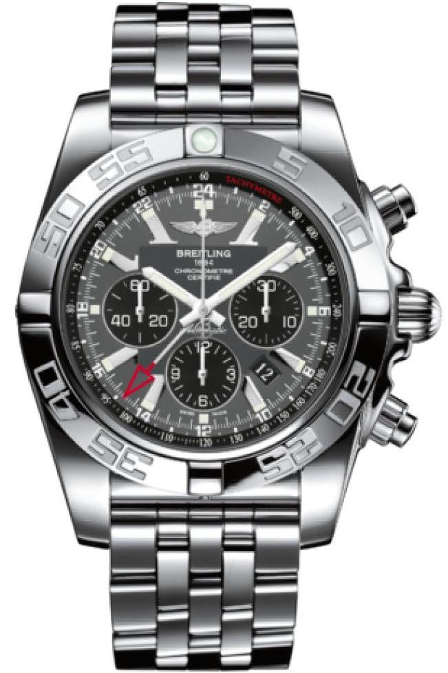 Breitling Watch Chronomat GMT Blackeye Gray