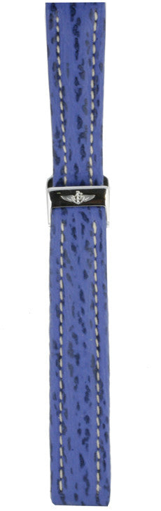 Breitling Strap Shark Skin Blue With Folding Buckle 136Y