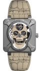 Bell & Ross Watch BR 01 Laughing Skull White Limited Edition