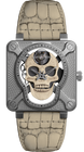 Bell & Ross Watch BR 01 Laughing Skull White Limited Edition BR01-SKULL-O-SK-ST