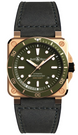 Bell & Ross Watch BR 03 92 Diver Green Bronze Limited Edition BR0392-D-G-BR/SCA