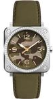 Bell & Ross Watch BR S Green Camo Diamond BRS-CK-ST-LGD/SCA