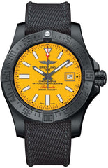 Breitling Watch Avenger II Seawolf Blacksteel Cobra Yellow