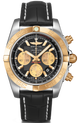 Breitling Watch Chronomat 44 Steel Gold Black Onyx CB0110121B1P1