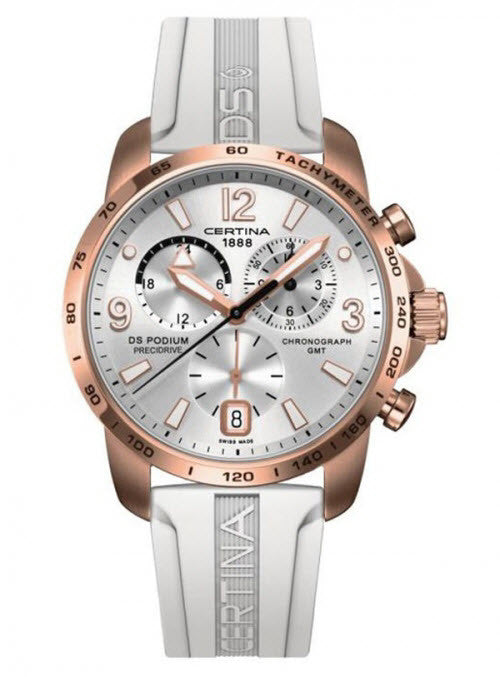 Certina Watch DS Podium Big Size Chrono GMT Aluminium Quartz