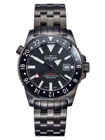 Davosa Watch Argonautic Dual Time GMT Gun