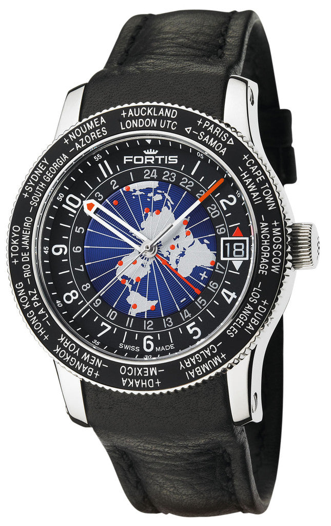 Fortis B-47 World Timer GMT D