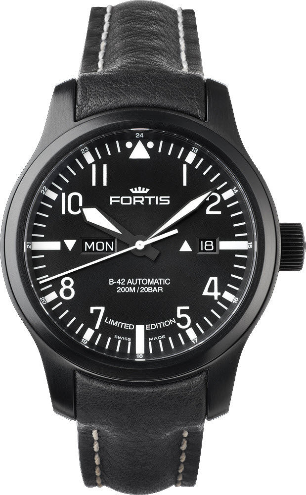 Fortis Watch B-42 Flieger Day Date Black Limited Edition
