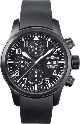 Fortis Watch B-42 Flieger Chronograph Black Limited Edition