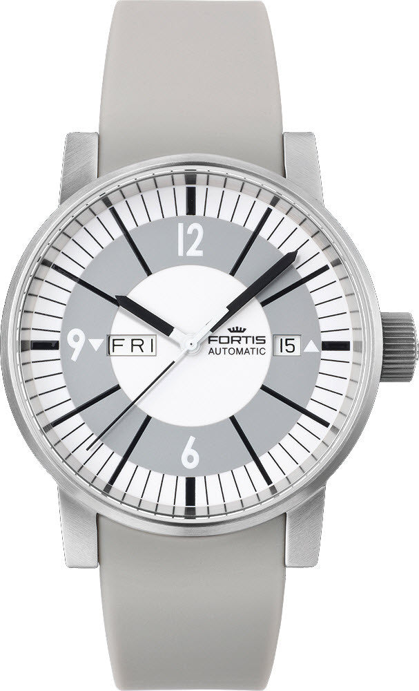 Fortis Watch Spacematic Classic White Day Date