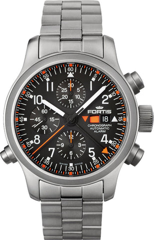 Fortis Watch B-42 Pilot Professional Chronograph Alarm