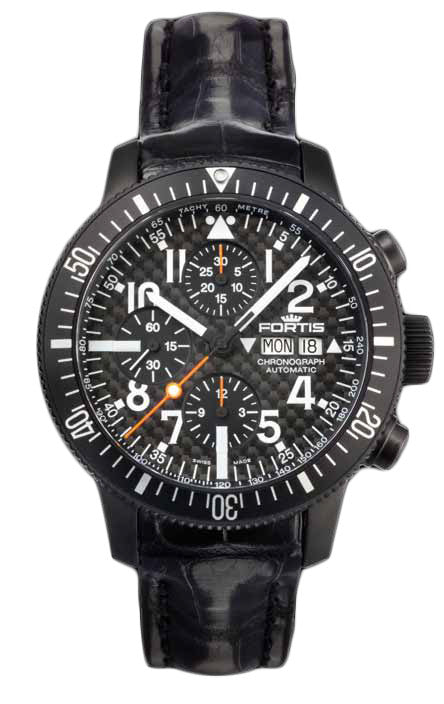 Fortis Watch B-42 Black Chronograph