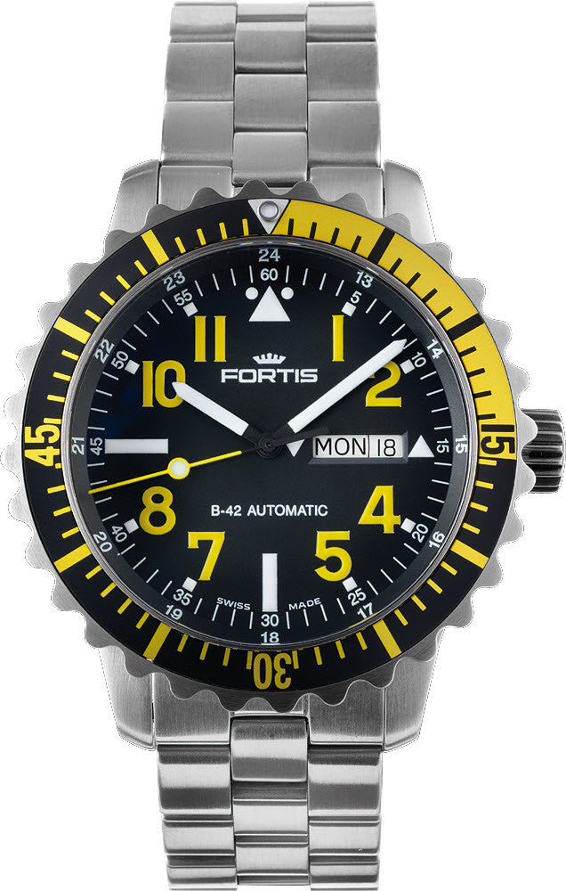 Fortis Watch Aquatis Marinemaster Yellow