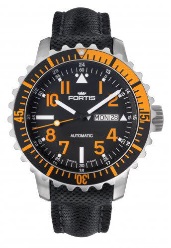 Fortis Watch Aquatis Marinemaster Orange