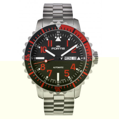 Fortis Watch Aquatis Marinemaster Red