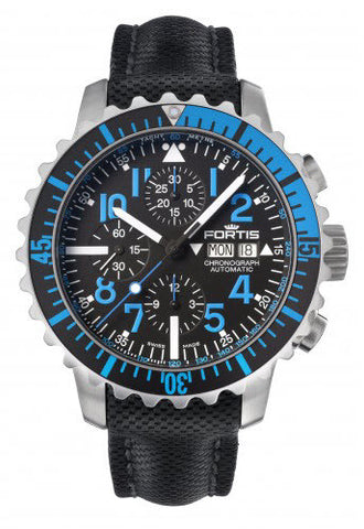 Fortis Watch Aquatis Marinemaster Chronograph Blue
