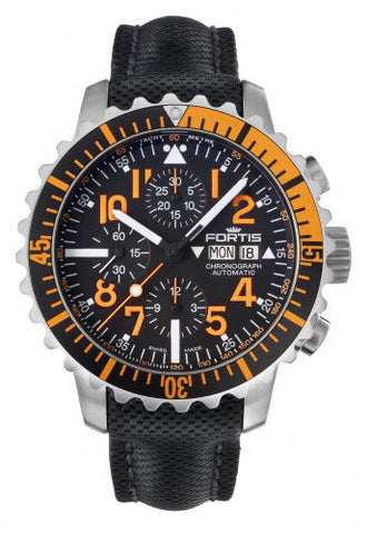 Fortis Watch Aquatis Marinemaster Chronograph Orange