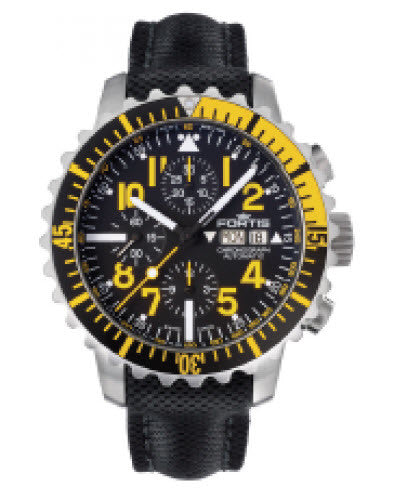 Fortis Watch Aquatis Marinemaster Chronograph Yellow
