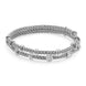 Fope Flex'it Prima 18ct White Gold 0.37ct Diamond Two Row Bracelet, 747B-2F BBR.