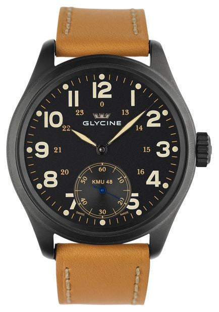 Glycine Watch KMU 48 Big Second 6 Hours PVD