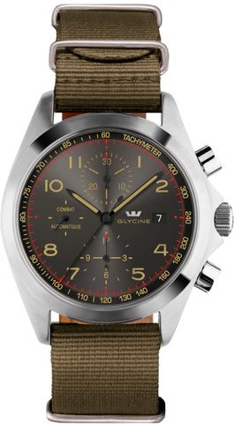 Glycine Watch Combat Chronograph Green