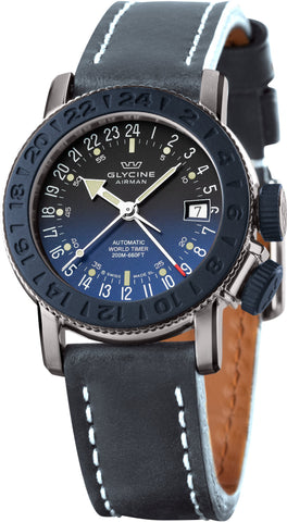 Glycine Watch Airman 18 Sphair Blue