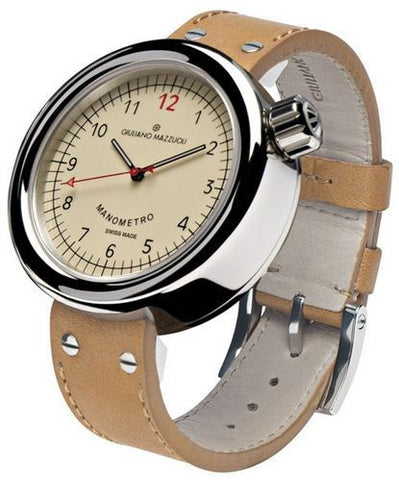 Giuliano Mazzuoli Manometro Polished Ivory Dial Right Crown