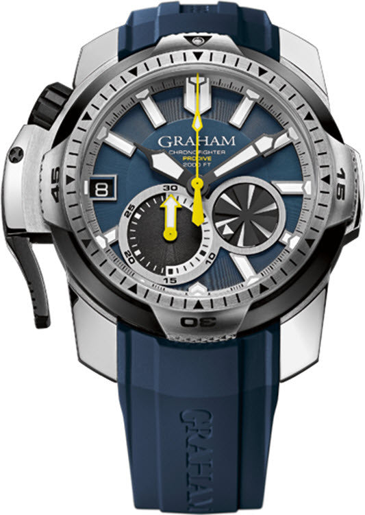 Graham Watch Chronofighter Prodive Blue