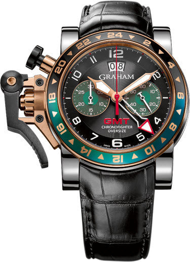 Graham Watch Chronofighter Oversize GMT Steel & Gold