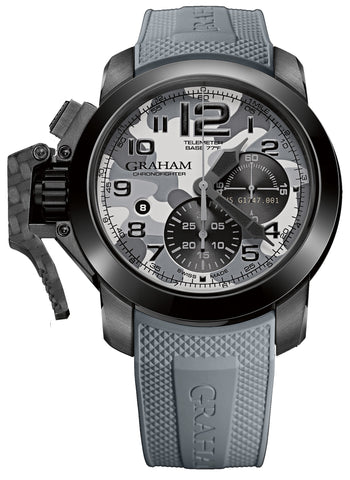 Graham Watch Chronofighter Oversize Black Arrow Farenheit Grey