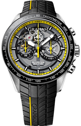 Graham Watch Silverstone RS Skeleton Yellow Limited Edition