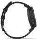 Garmin Watch Fenix 6 Sapphire Black DLC Heathered Nylon Band