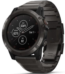 Garmin Watch Fenix 5X Plus Sapphire Slate Grey Titanium Band