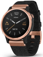 Garmin Watch Fenix 6S Sapphire Rose Gold Nylon Band
