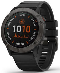 Garmin Watch Fenix 6X Pro Solar Carbon Gray DLC