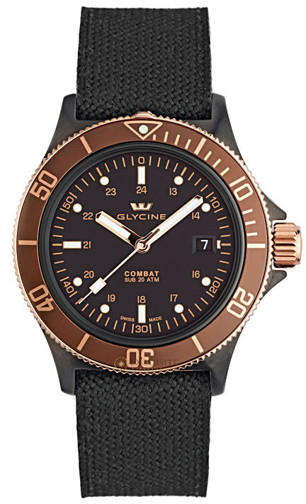 Glycine Watch Combat SUB Golden Eye