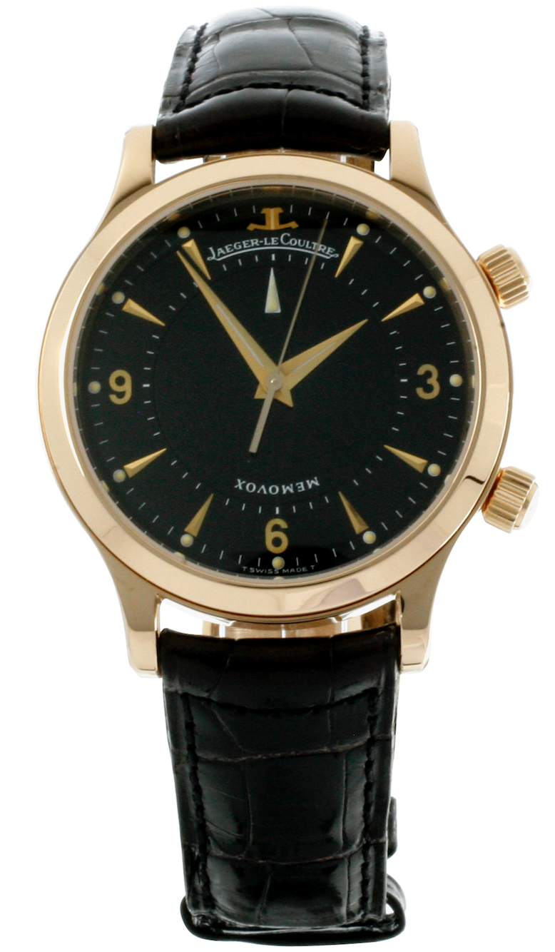 Jaeger Le Coultre Watch Memovox Master 18ct Rose Gold