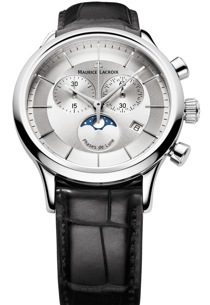 Maurice lacroix watch les classique gents moonphase chrono lc1148 ss001 131 1 watch for Maurice lacroix watches