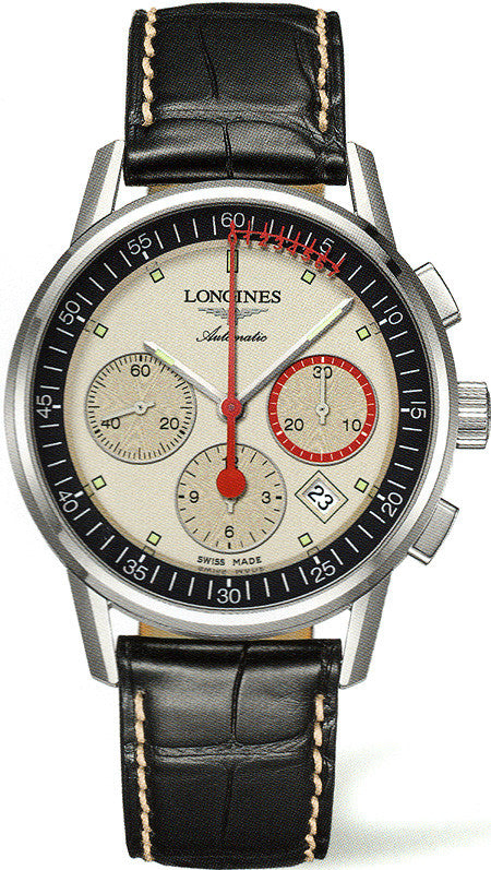 Longines Watch Heritage Column Wheel Chronograph Record Mens