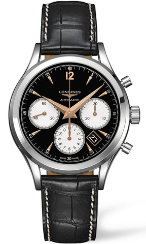 Longines Watch Heritage Column Wheel Chronograph Mens