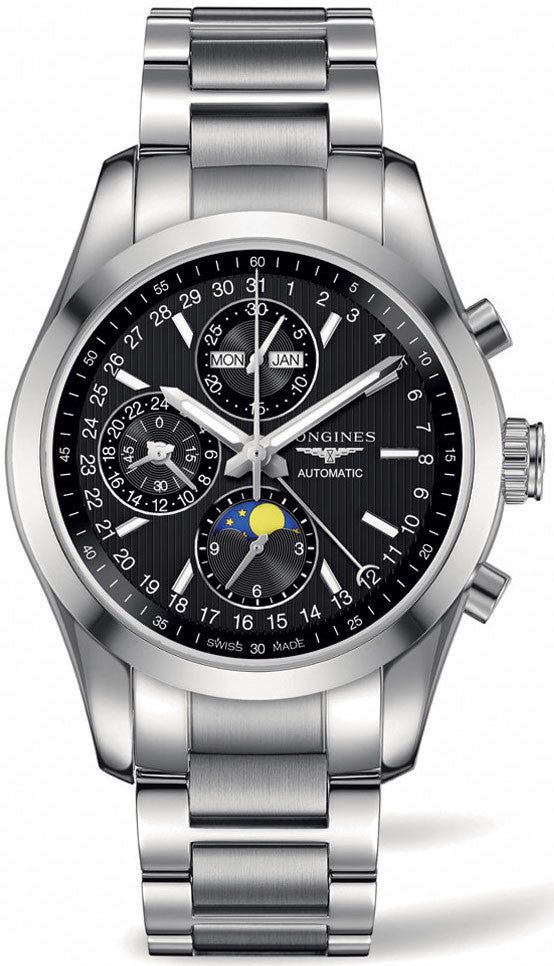 Longines Watch Conquest Classic Moonphase Chronograph