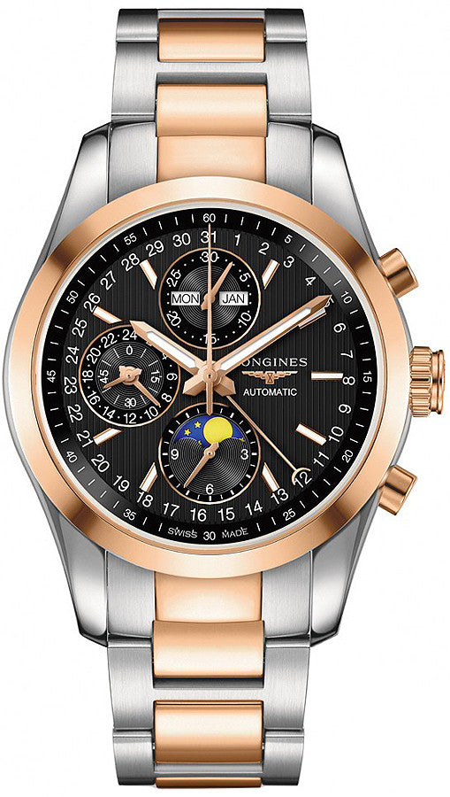 Longines Watch Conquest Classic Moonphase Mens