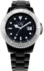LTD Watches Black With Silver Bezel D