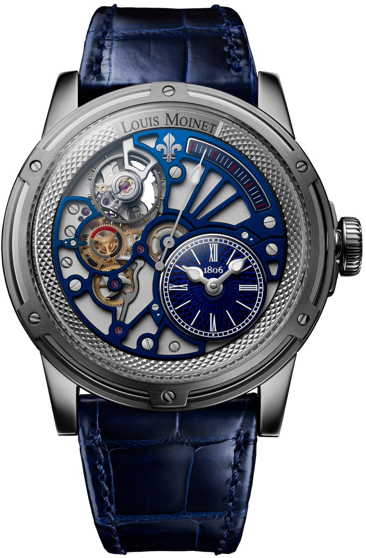 louis moinet watch tempograph chrome