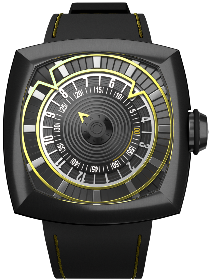lytt labs watch yellow gunmetal